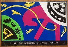 Vtg Metropolitan Museum 1987 Henri Matisse Jazz Pochoir Lithograph Poster 24x33