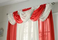 "Jewelled Voile Swags, 5 colours, lovely , 22"" x 18"" hanging size, Beautiful"