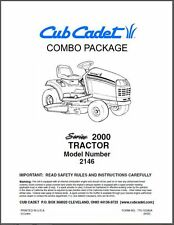 Cub Cadet  Model No. 2146 Manuals COMBO Package