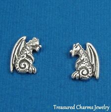 .925 Sterling Silver DRAGON Fantasy Post Stud EARRINGS