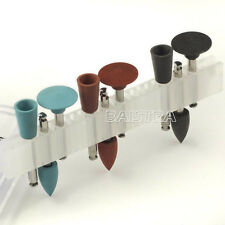 NEW Dental Silicone Polisher Diamond Burs Cups Assorted 9pcs/set for Low-speed