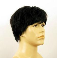Perruque homme 100% cheveux naturel noir ref THOMAS 1b