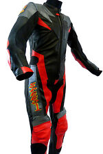 Baby Biker Kids One Piece Suit Motorcycle Mini Moto Full Leather Race Suit Red T