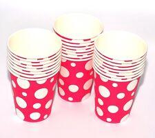 24 Vasos de Papel (9oz) - Lunares Colores Fiesta Cumpleaños Vajilla Catering