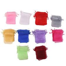 100pcs Luxury Sheer Assorted Colors Organza Bag Wedding Gift Bag Favor 7x9cm