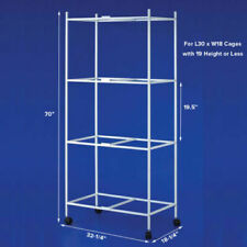 """4 Tiers Stand for 30""""x18""""x18"""" ; Size Aviary Canary Bird Cages T813 White"""