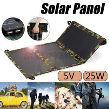 25W Sunpower Dual USB Foldable Solar Panel Battery Charger For Outdoor