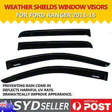 4PCS Window Visors Weathershields Weather Shields For Ford Ranger 2011-2015 UTE