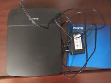 Cisco Linksys E1200 300 Mbps 4-Port 10/100 Wireless N Router  Adaptor works used
