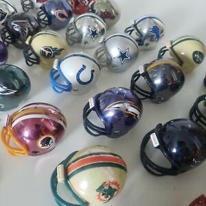 Riddell Pocket Pro Mini Helmet NFL Football Miniature Helmets Lot of 29 DAMAGE