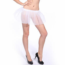 1980s Neon Tutu Skirt Pettiskirt Petticoat Hen Party Fancy Dress White