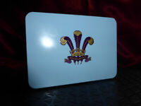 HIGHGROVE Tin - HRH Prince Charles - Royal Blue & purple with embossed crest