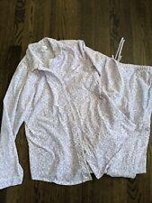 Eileen West Floral Jersey Knit Pajama Set - Women's Med White Purple