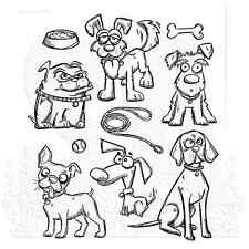 Tim Holtz Cling Rubber Stamps 2016 Crazy Dogs Stamps  CMS271  2016