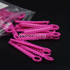 1040 Pcs Dental Orthodontic Ligature Ties Elastic Rubber Bands Braces Rings Pink