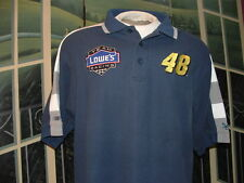 NASCAR~JIMMY JOHNSON #48LOWE'S RACING TEAM~GOLF POLO SHIRT~LG.By:Chase Authentic