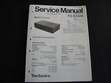 ORIGINALI service manual TECHNICS rs-bx646