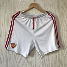 MANCHESTER UNITED 2016 2017 FOOTBALL SOCCER SHORTS ADIDAS AI6714 WHITE