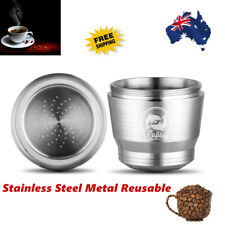 Stainless Steel Metal Coffee Capsule Cup Reusable Refillable Pod for Nespresso