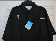 "COLUMBIA ""CURE CANCER"" SS FISHING SHIRT  LARGE         (14)"