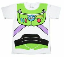 Adult Men's Toy Story Movie Buzz Lightyear Astronaut Costume White T-shirt Tee