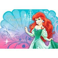 Ariel The Little Mermaid Thank You Cards Birthday Favor decoration Party Supply