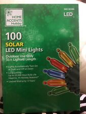 Home Accents 100-Light LED Multi-Color Smooth Mini Solar Light String