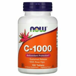 NOW Foods Vitamin C-1000 with Rose Hips & Bioflavonoids Immune Boost 100 tablets