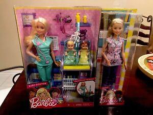 NRFB Barbie Baby Twins Doctor Nurse Playset Gift New Box Newborn Babies Doll Lot