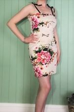 Pink Floral Party Cocktail Pencil Slip Dress Sizes 12 New! ~EugeniaM Designs~