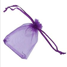 "100 pieces 2"" x 3"" MINI Organza Bags Wedding Party Favor Gifts eggplant purple"