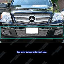 Fits 2010-2011 Mercedes-Benz GLK350 Stainless X Mesh Bumper Grille Insert