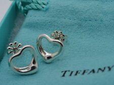 Tiffany & Co. Elsa Peretti Sterling Silver Open Heart Stud Earrings