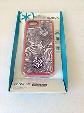 Speck SPK-A0764 Case for iPhone SE/ 5/5S - FreshBloom Coral Pink/Black
