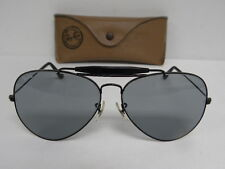 Vintage B&L Ray Ban Outdoorsman II Black Blue Gray 62mm USA Aviator Sunglasses