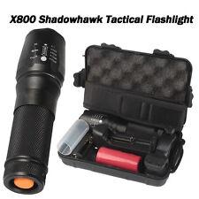 8000lm Genuine SHADOWHAWK X800 Tactical Flashlight LED Zoom Military Torch G700