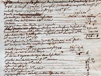 Révolution manuscrit comptes de métairies 1786/1791 Muratière à Cérilly Allier