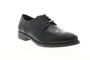 Geox U Yoris Np Abx Mens Black Oxfords & Lace Ups Wingtip & Brogue Shoes