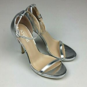 WOMENS LADIES HIGH HEEL BARELY THERE BUCKLE ANKLE STRAP SANDALS SIZE UK 5