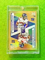 SAQUON BARKLEY GOLD PRIZM CARD JERSEY #26 GIANTS #/10 SSP 2019 Panini Elite Deck