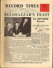 RECORD TIMES NEWSPAPER 1958 12 DECEMBER sargent walton belshazzar's feast/etc