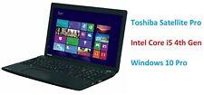 WINDOWS 10 TOSHIBA SATELLITE PRO C50 LAPTOP i5-4200M WEBCAM 8GB RAM 240GB SSD