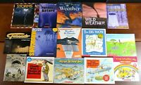 Set 15 HBPB Weather Picture Books Clouds Rain Snow Hurricane Science Teacher L4