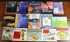 Set 15 HBPB Weather Picture Books Clouds Rain Snow Hurricane Science Teacher L4