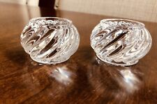 Baccarat Crystal Napkin Rings Bambous Swirl Set of 2 France