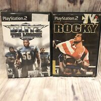 Lot Sony PlayStation 2 Games PS2 Rocky Black Label Boxing Blitz The league
