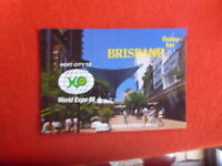 WORLD EXPO 88  BRISBANE  AUSTRALIA POSTCARD POSTALLY USED WITH SPEC MACHINE PMK