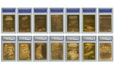 STAR WARS 1996 Genuine 23KT Gold Cards Graded Gem-Mint 10 – COMPLETE SET OF 7