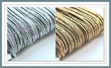 Silver or Gold Metallic Russian Braid Cord, Soutache, Trim, 5 Mtrs 3mm