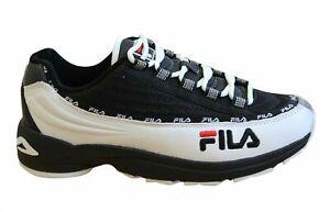 Fila DSTR97 CB Mens Trainers Black Leather Textile Lace Up Shoes 1010713 90T